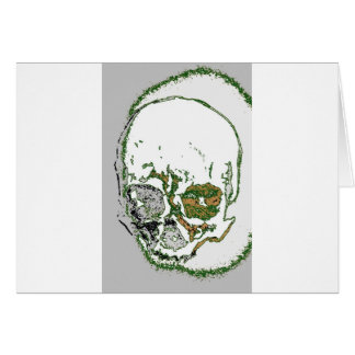 Skull Drawing Card
