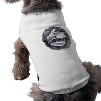 Skull drawing imaginary animal sketch doggie t-shirt