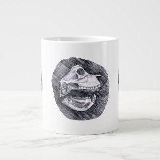 Skull drawing imaginary animal sketch large coffee mug