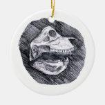 Skull drawing imaginary animal sketch christmas ornament