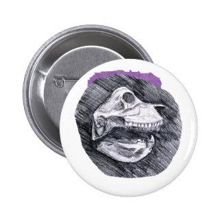 Skull drawing imaginary animal sketch pinback button