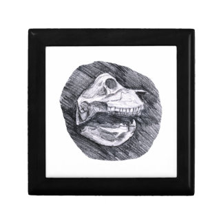 Skull drawing imaginary animal sketch trinket boxes
