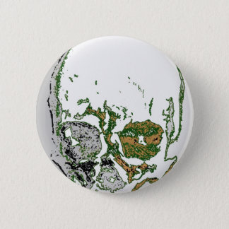 Skull Drawing Pinback Button