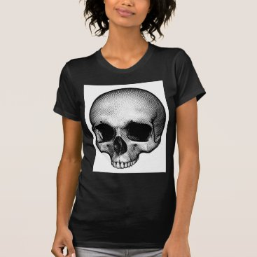 Halloween Themed Skull Drawing T-Shirt