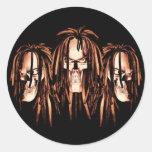 Skull Dreadlocks Sticker