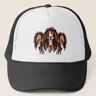 Skull Dreadlocks Trucker Hat