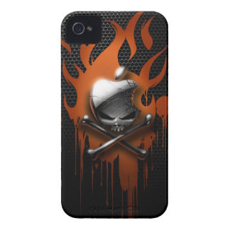 Skull & Dripping Flames iPhone 4 Cases