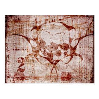 Skull Duggery Gothic Art Postcard