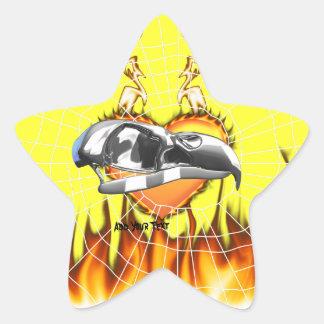 skull-eagle3.png pegatina en forma de estrella