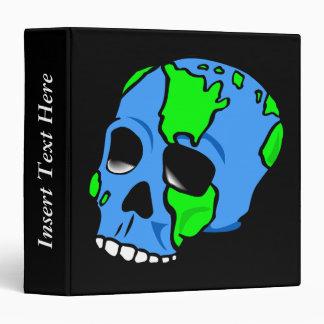 Skull Earth Day Avery Binder