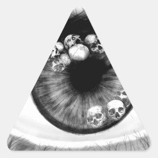 Skull Eeye Triangle Sticker