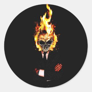 Skull él fuego