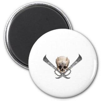skull espada imán redondo 5 cm
