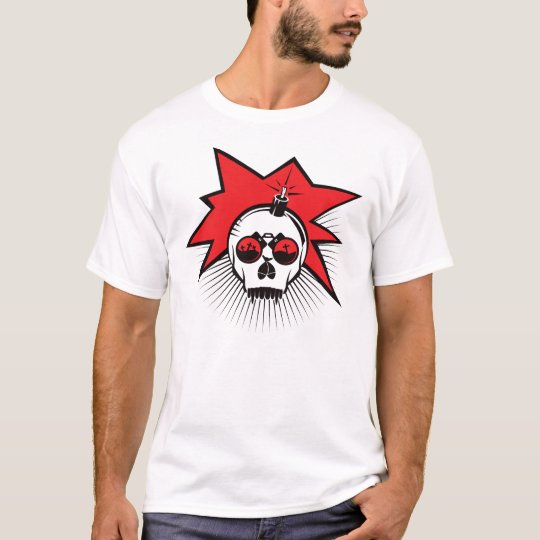 Skull Explode - Red T-Shirt