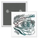 Skull Eye 19th Birthday Gifts Button