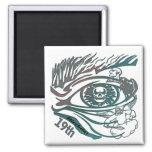 Skull Eye 19th Birthday Gifts Fridge Magnets