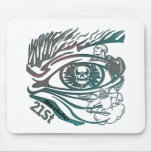 Skull Eye 21st Birthday Gifts Mouse Pad