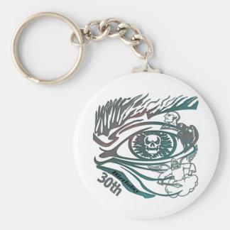 Skull Eye 30th Birthday Gifts Keychain