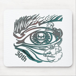 Skull Eye 30th Birthday Gifts Mouse Pad