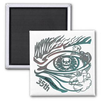 Skull Eye 35th Birthday Gifts Magnet