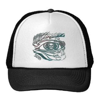 Skull Eye 50th Birthday Gifts Trucker Hat