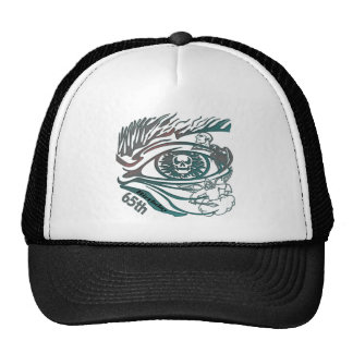 Skull Eye 65th Birthday Gifts Trucker Hat