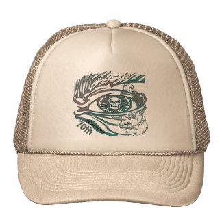 Skull Eye 70th Birthday Gifts Trucker Hat