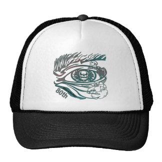 Skull Eye 80th Birthday Gifts Trucker Hat