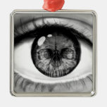 Skull eye double vision christmas ornaments