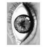 Skull eye double vision letterhead template