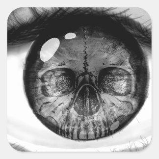 Skull eye double vision sticker