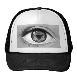 Skull eye double vision trucker hat