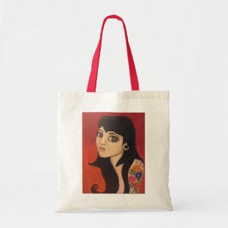 skull eye girl tote bag