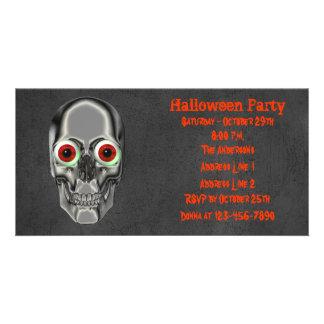 Skull Eyeballs Halloween Party Invite
