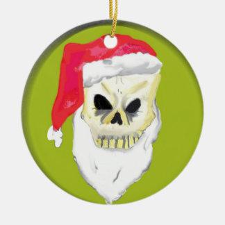 Skull face Christmas Ornament