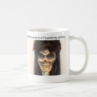 Skull face coffee mug