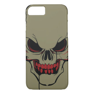 Skull Face Red & White iPhone 7 Case