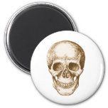 Skull Face Sepia 2 Inch Round Magnet
