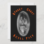 Skull Face Spirit Ghost Thank You Card