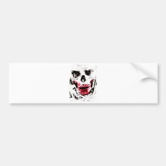 Skull Face Zombie Man Creepy Horror Bumper Sticker
