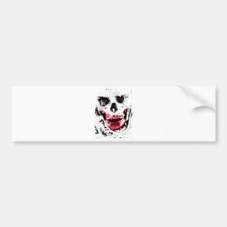 Skull Face Zombie Man Creepy Horror Bumper Sticker
