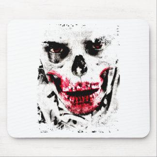 Skull Face Zombie Man Creepy Horror Mouse Pad