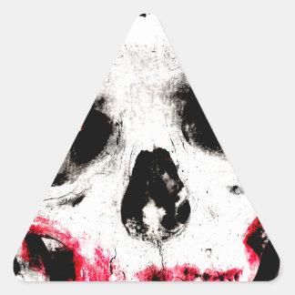 Skull Face Zombie Man Creepy Horror Triangle Sticker