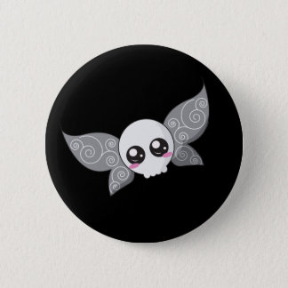 Skull Fairy - Grey Pinback Button