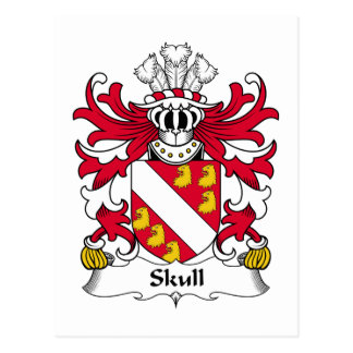 Skull Family Crest Postcard