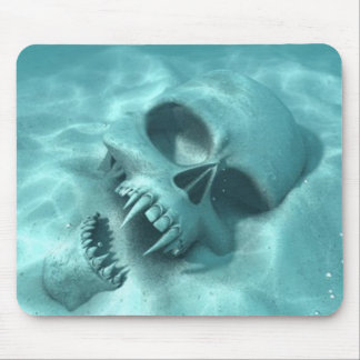 Skull Fangs Ocean Sea Mousepad