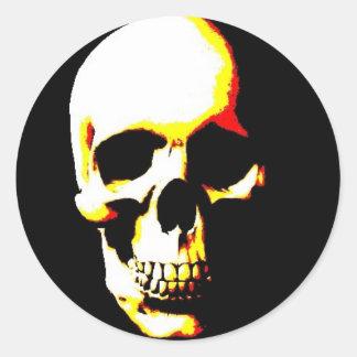 Skull Fantasy Art Rock Heavy Metal Round Sticker