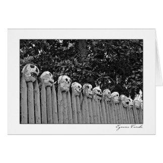 Skull Fence Card