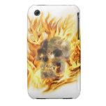 SKULL & FIERY FLAMES Aaryn Steele Art iPhone 3 Cas iPhone 3 Cases