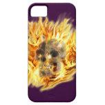 SKULL & FIERY FLAMES Aaryn Steele Art iPhone Case iPhone 5 Cases